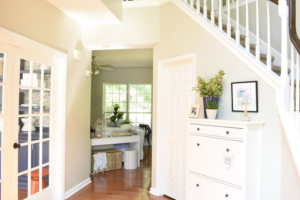 foyer updated with modern look