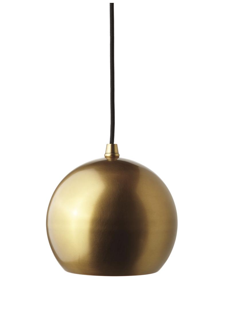 modern brass pendant