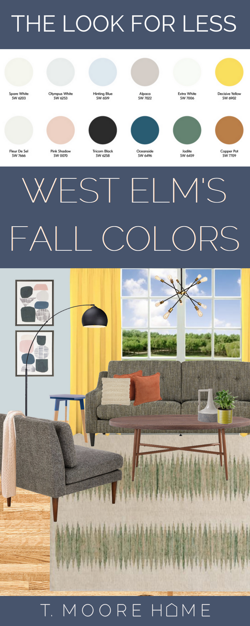 west elm inspired room for fall