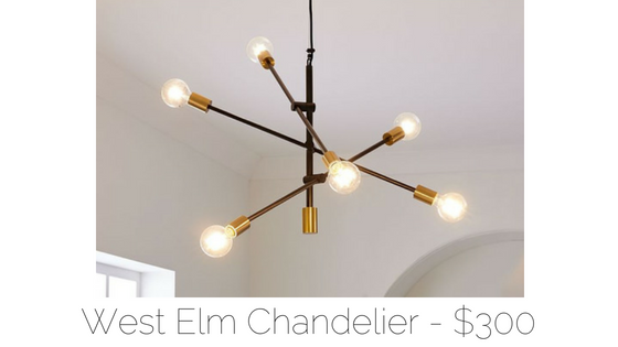 west elm sputnik light
