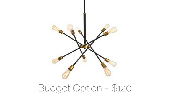 affordable sputnik chandelier