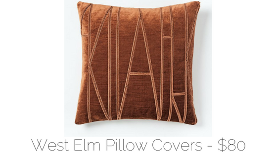 west elm throw pillow cover