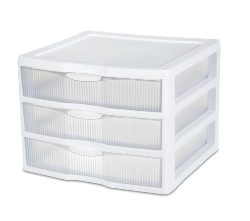 plastic storage drawers unit