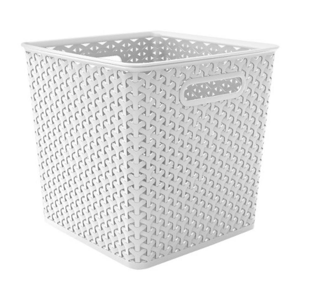 plastic storage bins for bathroom