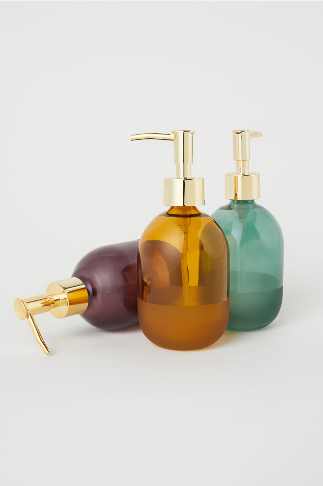 soap dispenser in jewel tones for fall