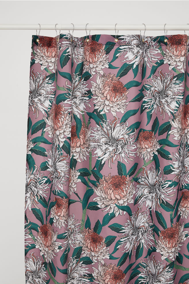 shower curtain with floral accents affordable home decor.jpg