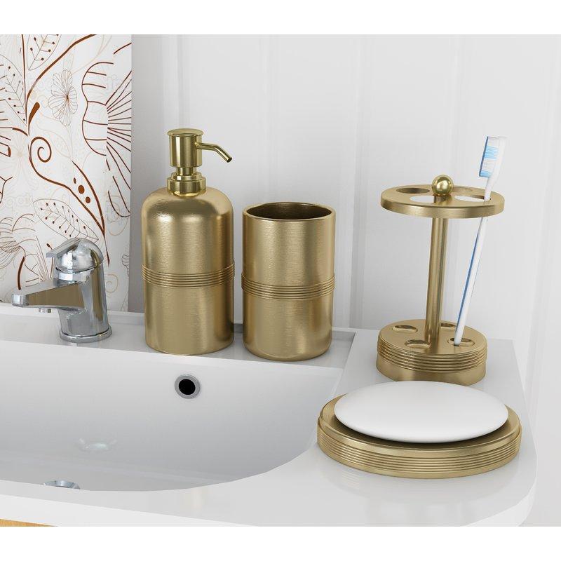 Wester+4+Piece+Bathroom+Accessory+Set