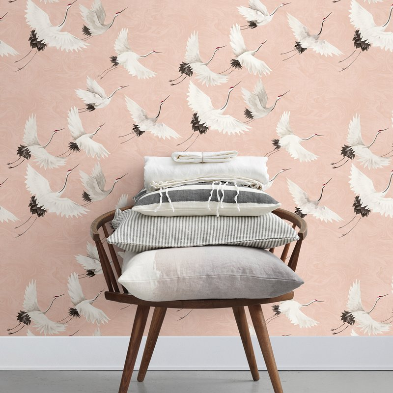 Casner+Windsong+Crane+33%27+L+x+20.5%22+W+Animal+Print+Wallpaper+Roll.jpg