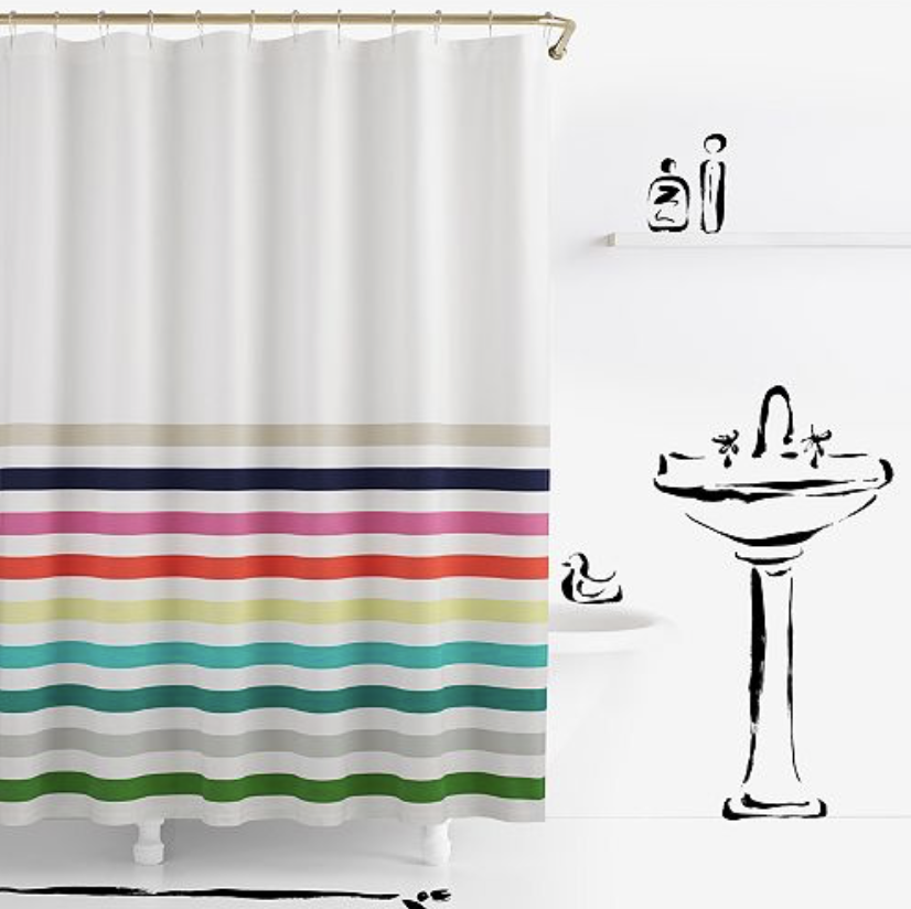 Kate Spade Candy Stripe Shower Curtain