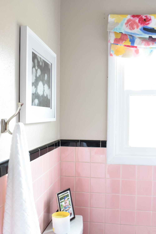 Kate Spade inspired bathroom remodel