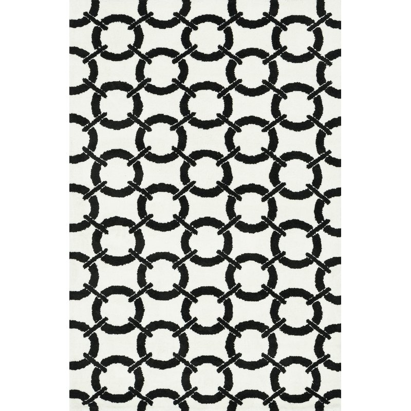 black and white area rug