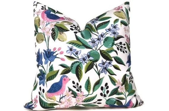 This pillow cover from DEKOWE on Etsy is one of my favorite Etsy finds. This seller has all sorts of designer pillow covers for cheap!  click to shop