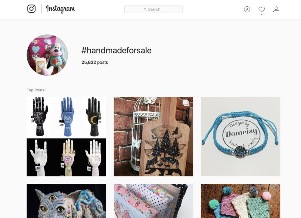 handmade items for sale on instagram