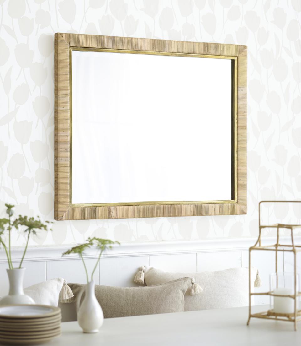 neutral dining room wallpaper