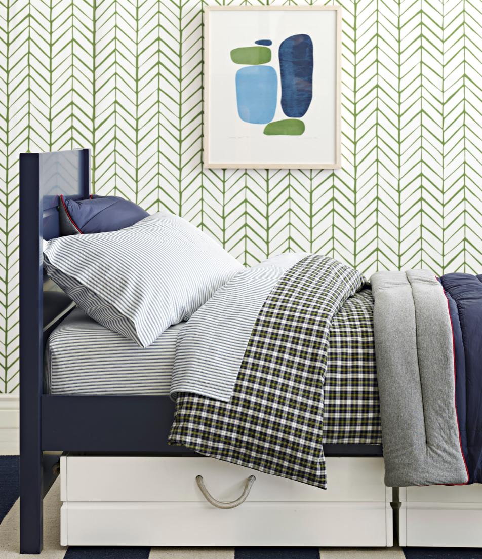 modern boys bedroom or dorm room