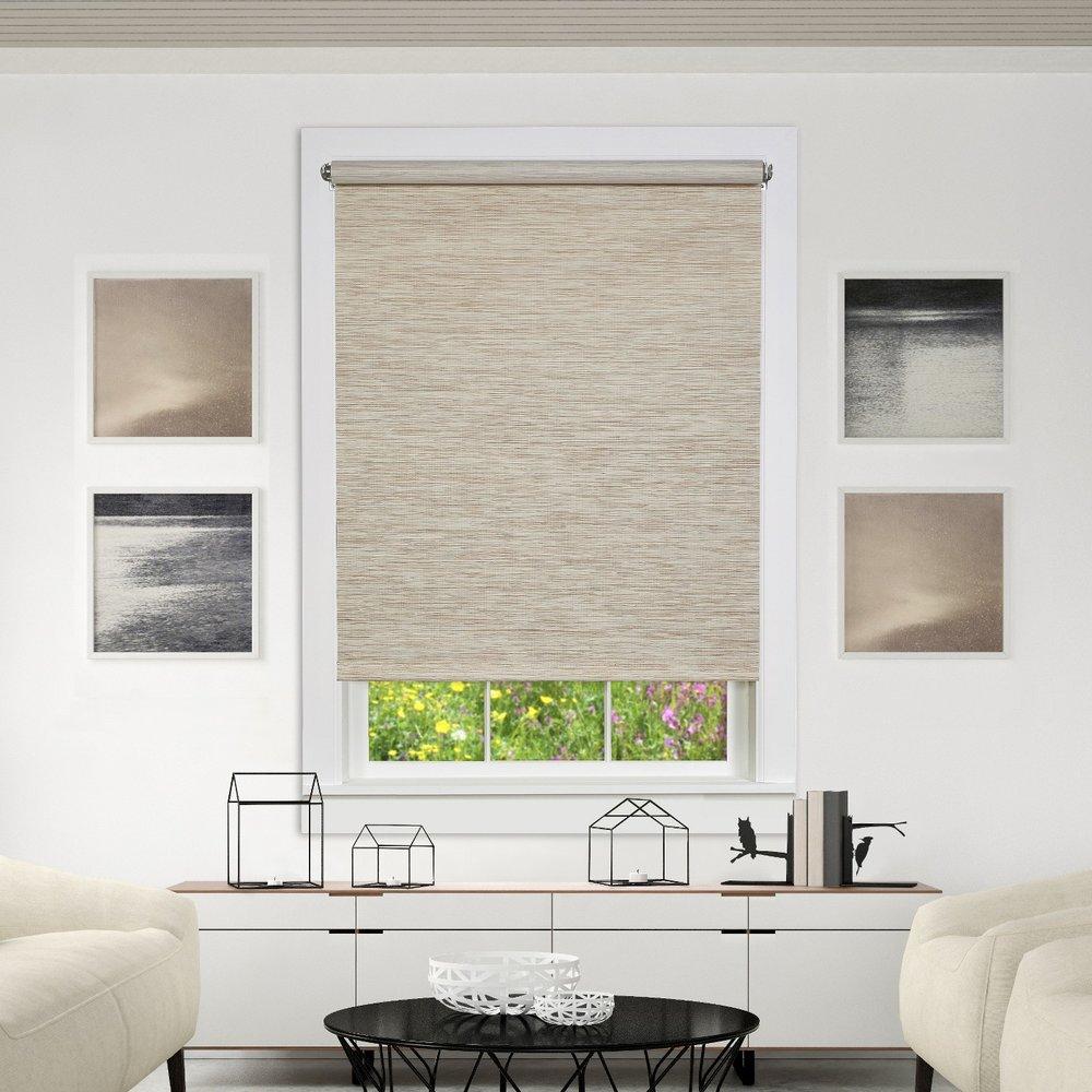 modern living room window treatments