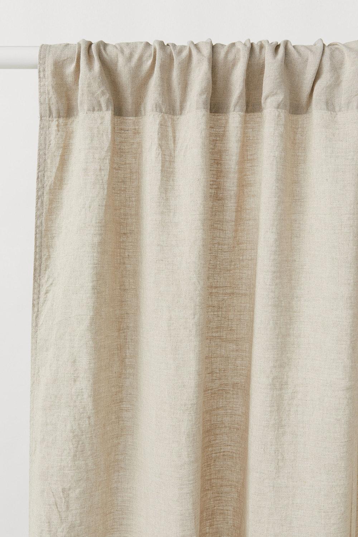 coastal cottage style budget linen curtain panels
