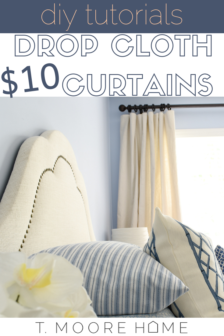 diy drop cloth curtains no sewing required