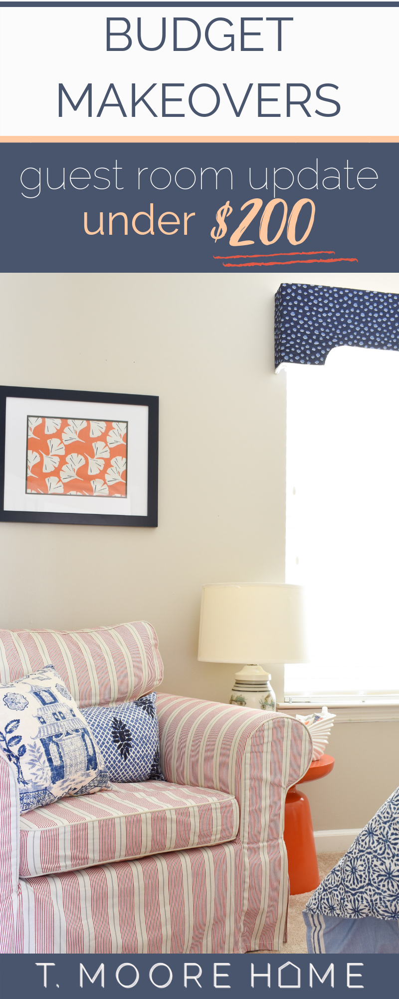 colorful pattern-filled bedroom updates on a serious budget