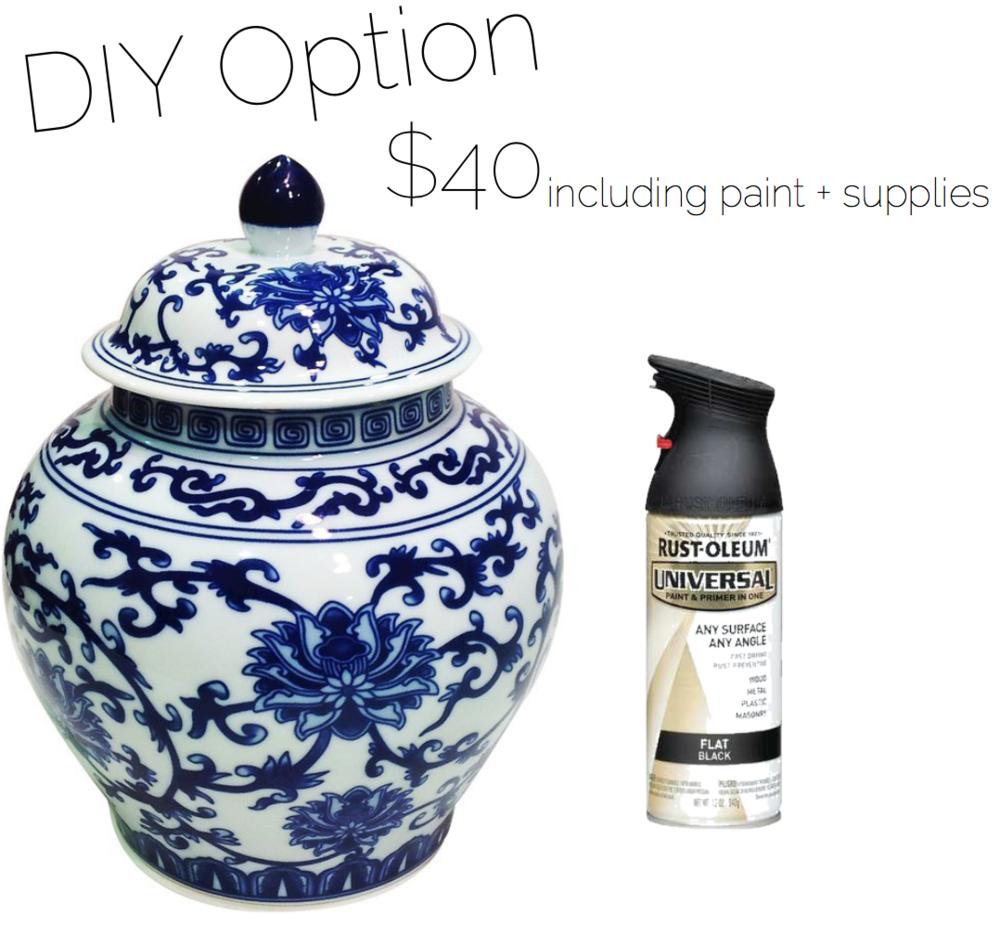 DIY black matte urn Ballard designs look for less