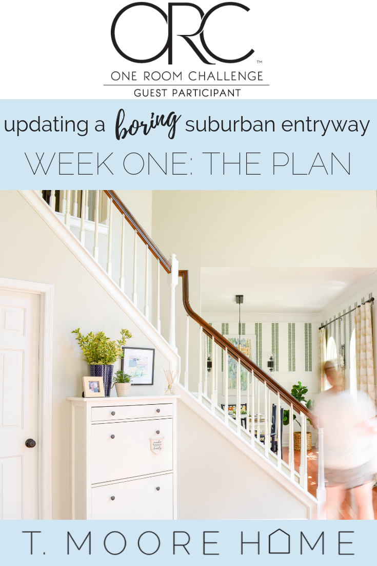 Fall 2018 One Room Challenge - Updating my boring suburban entryway/foyer