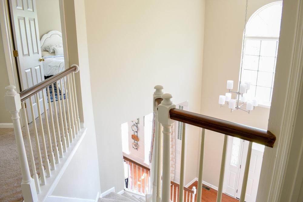 suburban entryway - two story foyer