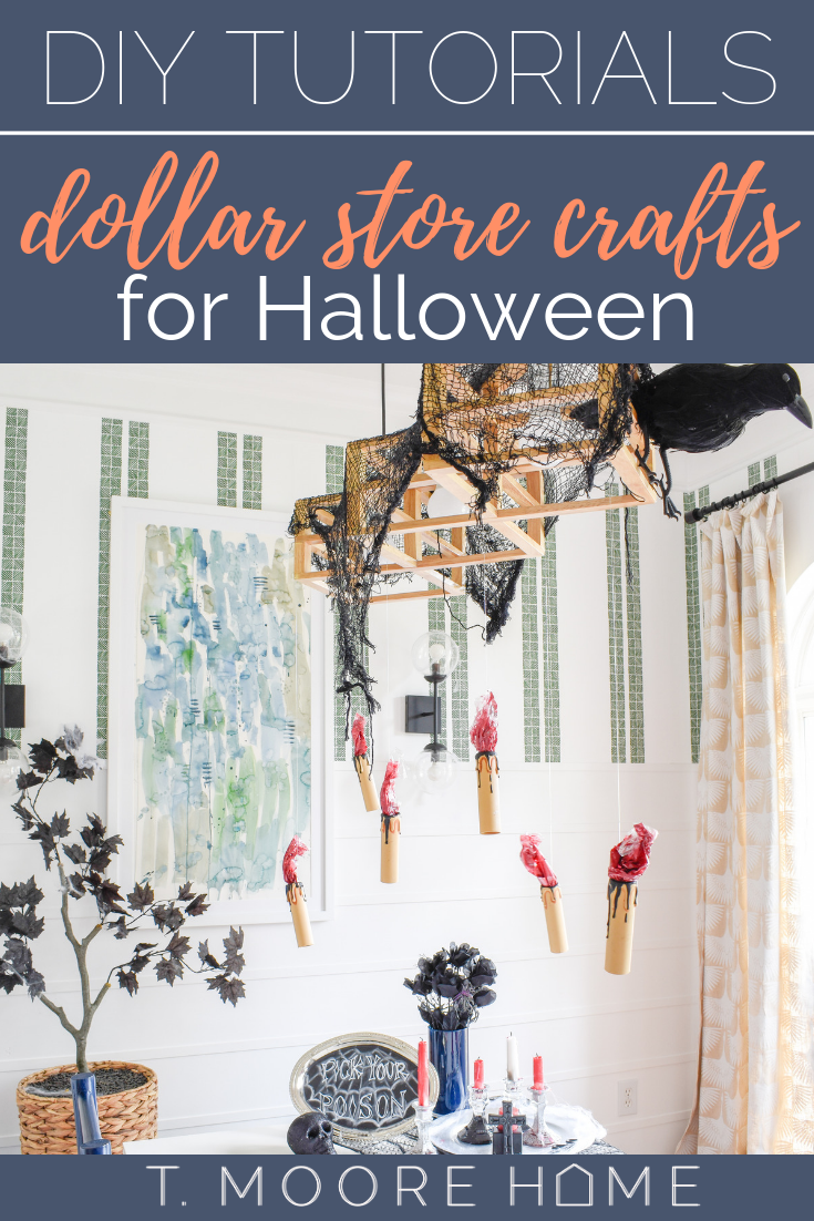 Halloween Decor DIYs from The Dollar Store — T. MOORE HOME