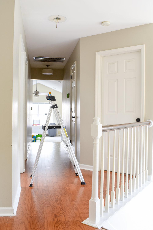 hallway with new hardwood