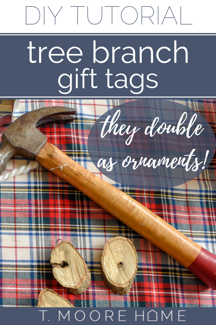 DIY rustic Christmas ornaments and gift tags. Perfect for Dad.