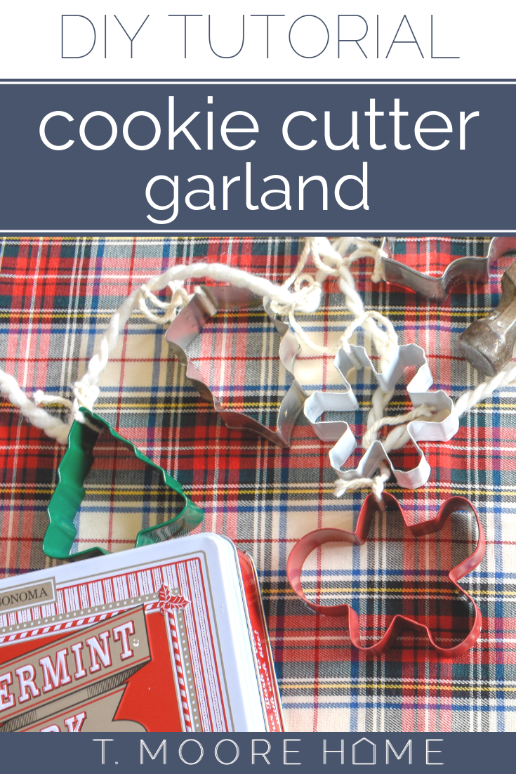 DIY Christmas decor - cookie cutter garland perfect for decorating your kitchen for Christmas