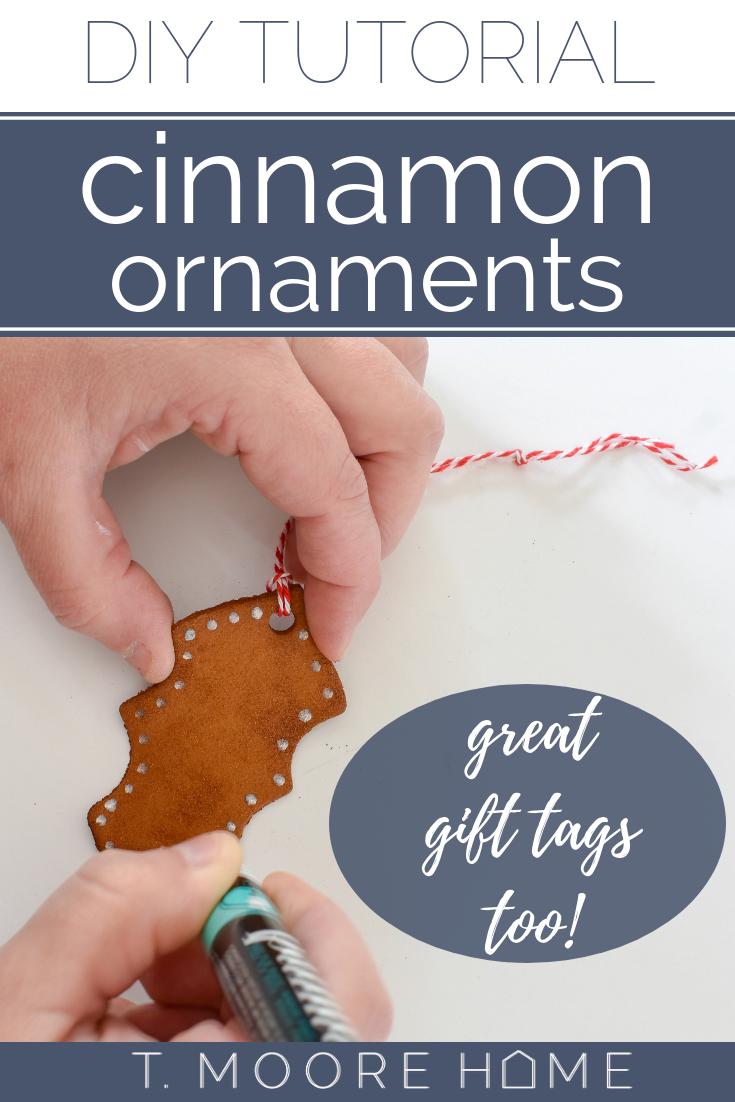 cinnamon ornament recipe - use this to make ornaments or gift tags that smell amazing!