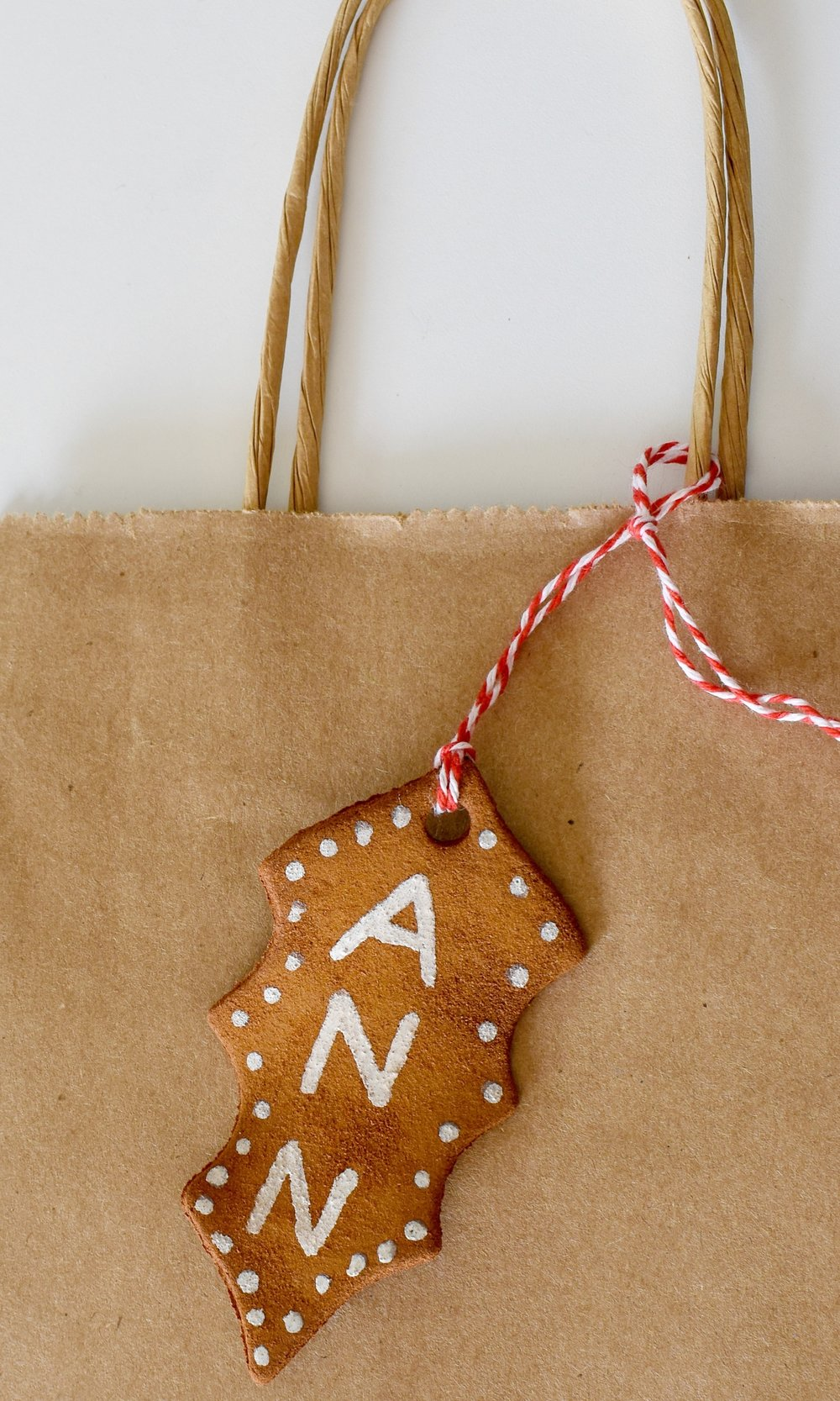 cinnamon ornaments as gift tags