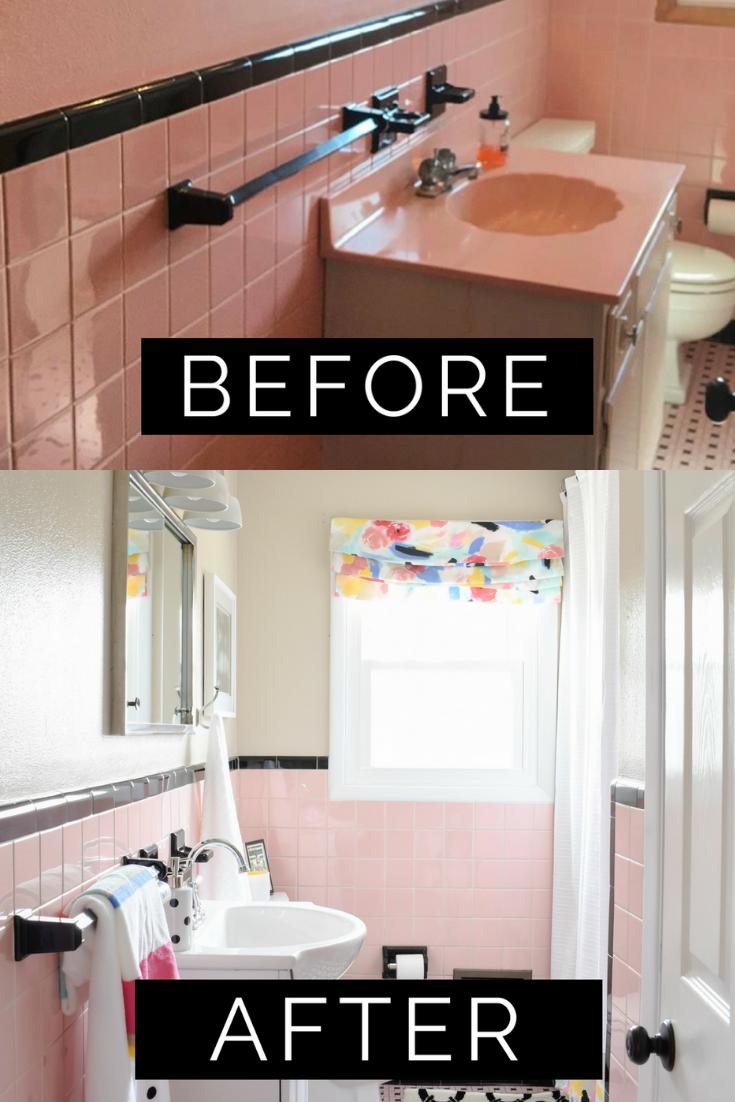 Most Popular DIY Remodel of 2018 Revealed | Restoring A Vintage Pink Tile Bathroom for Under $1,000!