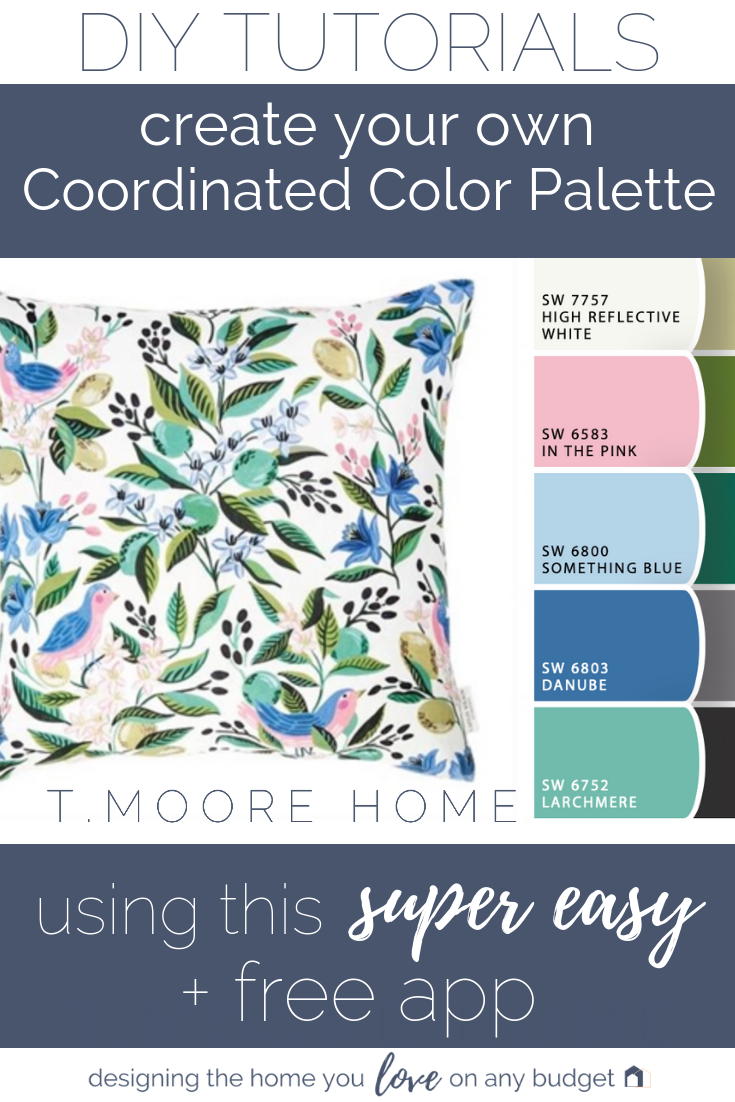 Top Home Decor Posts of 2018 | How to choose paint and accent colors for your home using a really easy method that requires no downloads