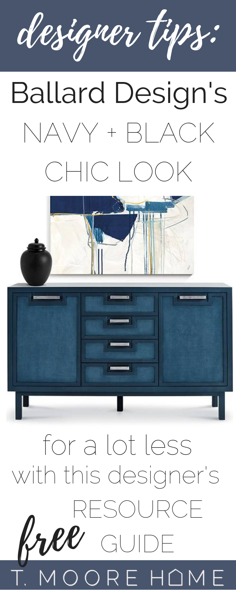 Top DIY Home Decor Posts of 2018 Revealed | Ballard Designs Navy + Black: The Look For Less Series explores designer looks and rooms and shows you how you can replicate the look on a budget. You guys loved these and I promise to bring them back in 2019.
