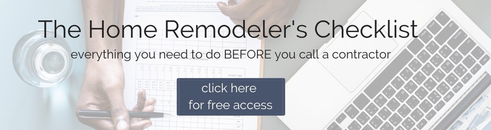 Home Remodeler's Checklist - Everything you need to do before you tackle your next renovation