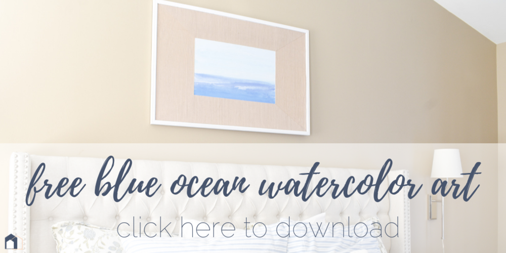 Free Watercolor Ocean Art Print + DIY Tutorial for Custom Framing Mats