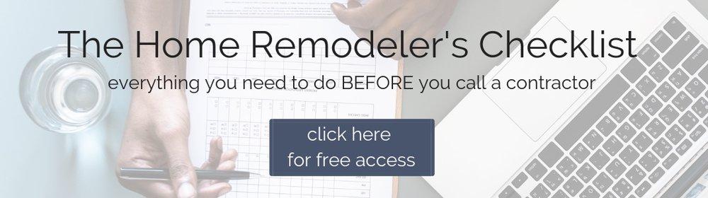 DIY remodeler's checklist