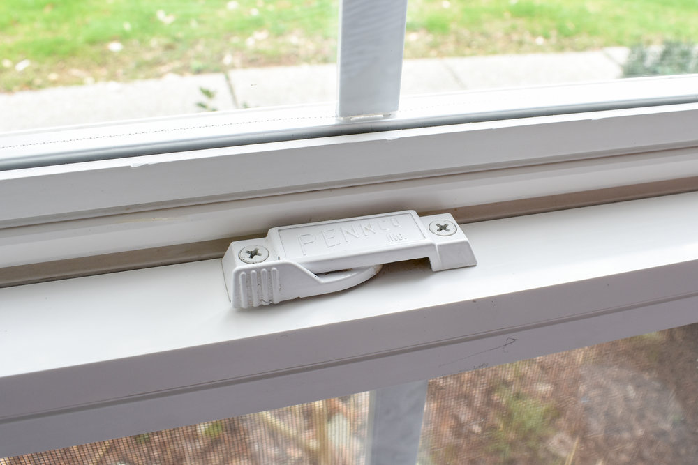 cleaning vinyl windows with a natural solution that repels bugs