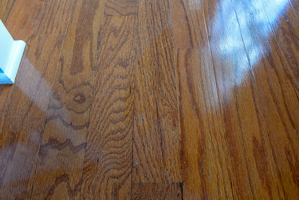 How to remove spilled varnish from hardwood floors