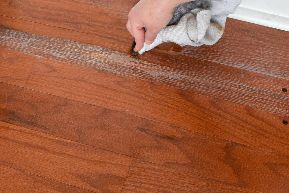 Fixing Water Damage on Prefinished Wood Floors