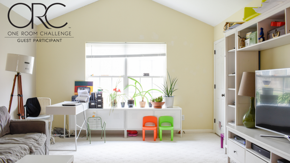 Spring 2019 One Room Challenge: Bonus Room Turned Family Media Center #oneroomchallenge #ORC #bonusroomideas #playroom