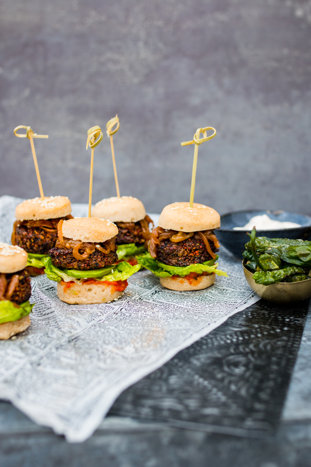 Sliders - vegan och glutenfria -