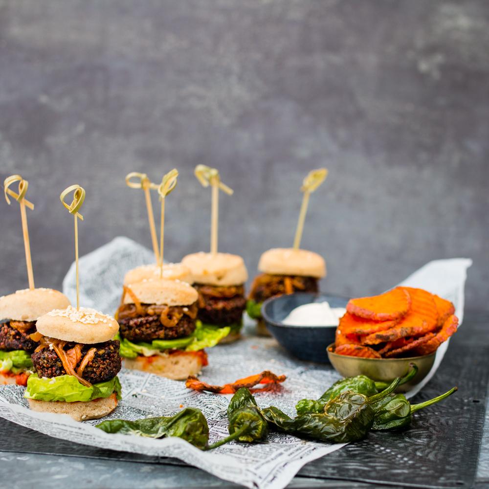 Sliders - vegan & glutenfria miniburgare