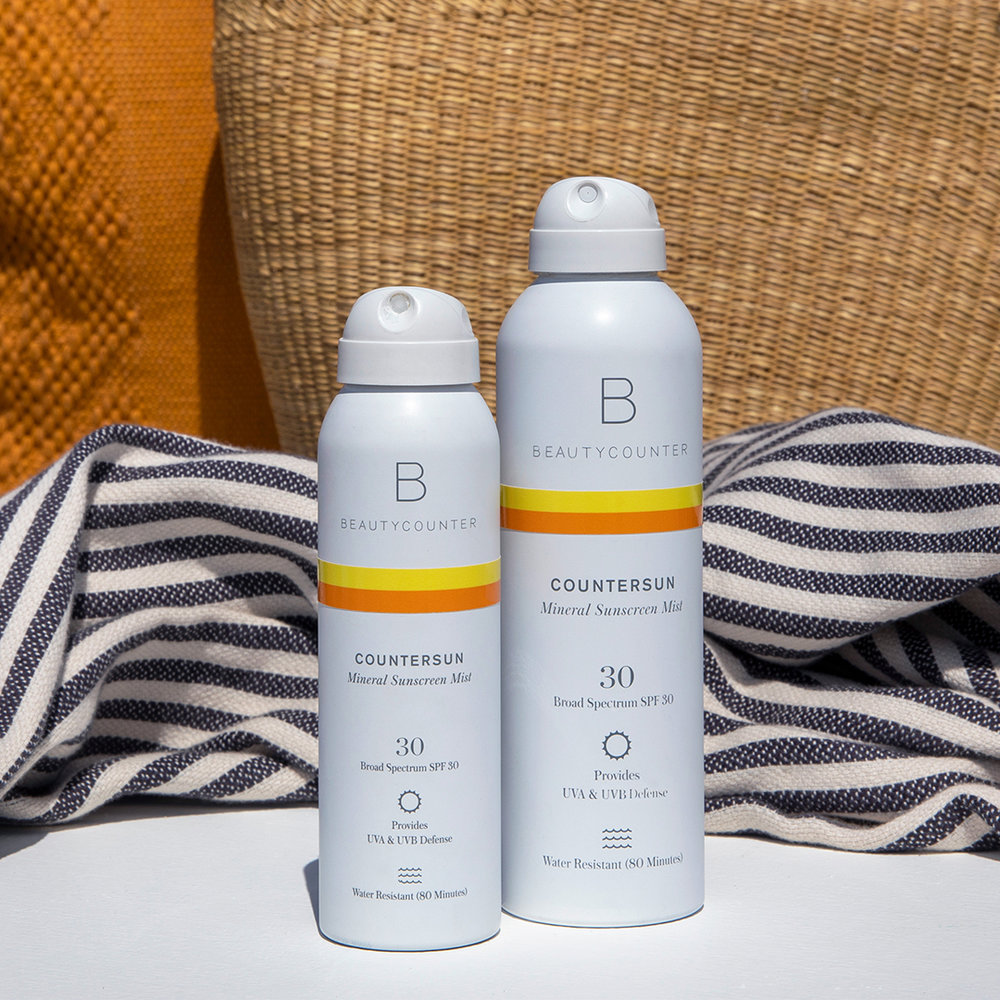 Beautycounter - Beautycounter's new Countersun collection includes a Mist, Lotion, and Stick that all use non-nano zinc oxide and antioxidant-rich California poppy to block against UVA, UVB, and Blue Light rays