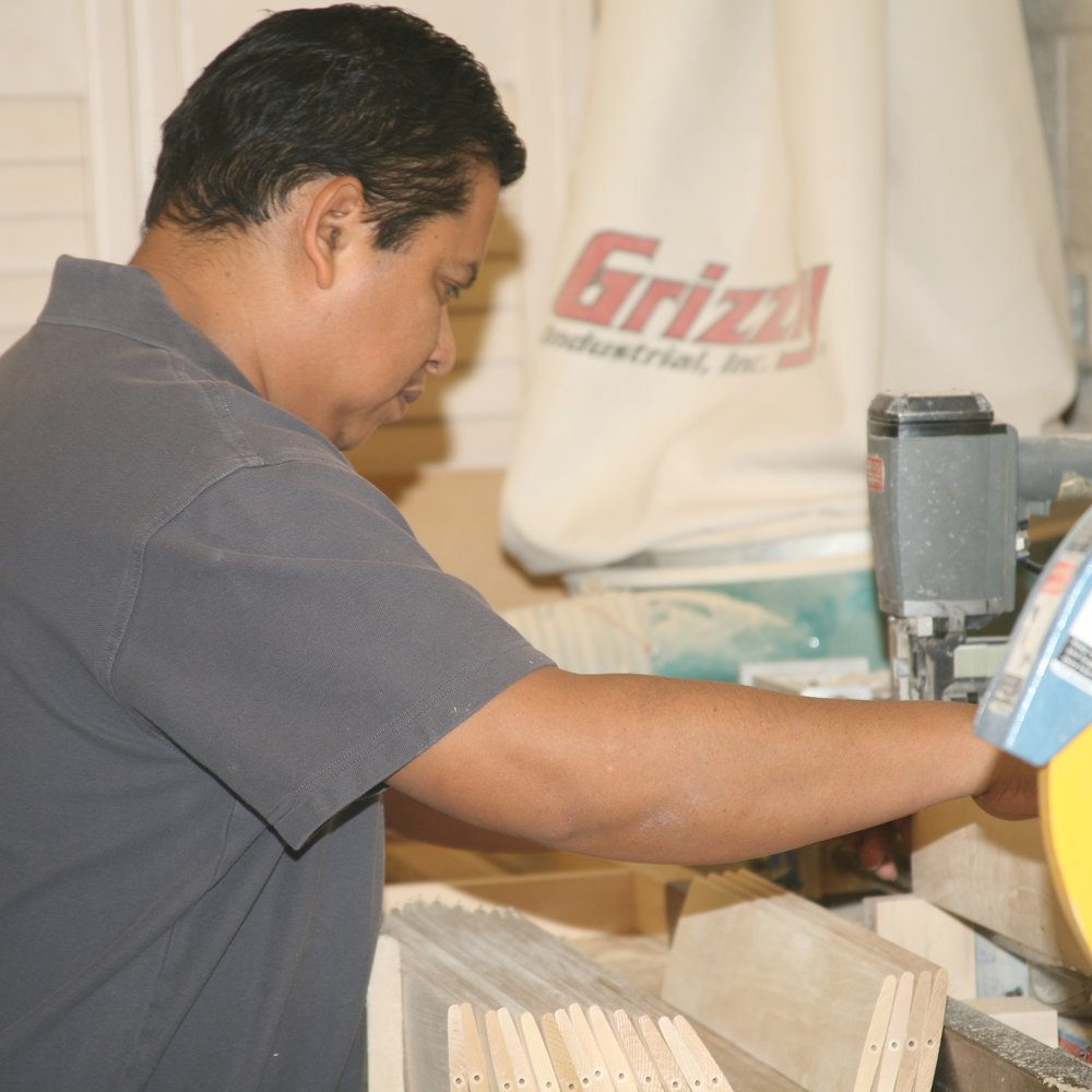 Gaston - Gaston has worked with Desert Wind Shutters since 2006. He paints all of our shutters, and builds our arches.