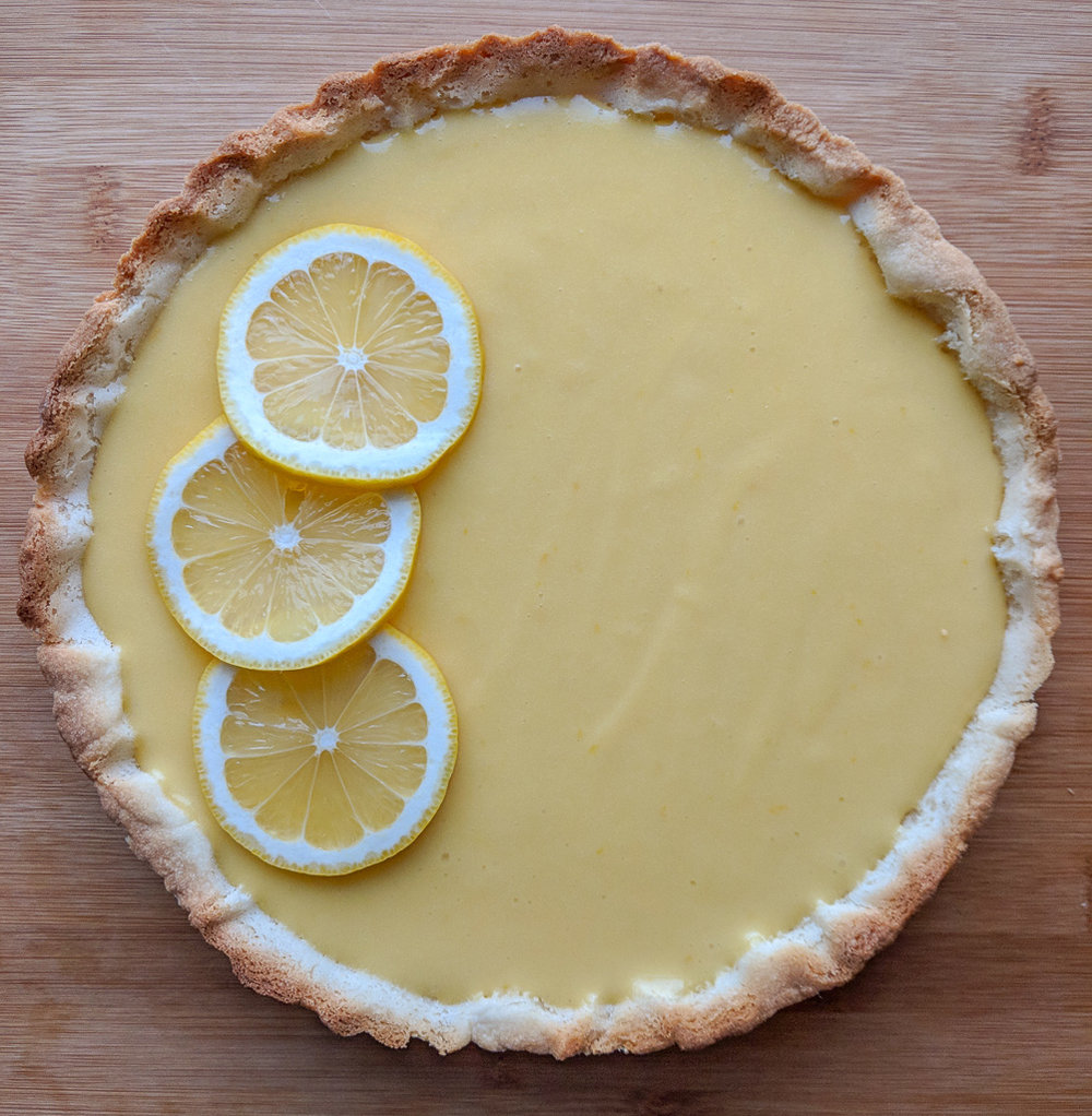 LEMON CURD TART - WITH GLUTEN FREE SWEET ALMOND CRUST