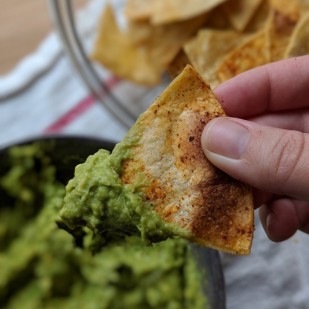 HOMEMADE TORTILLA CHIPS - SWEET OR SALTY!