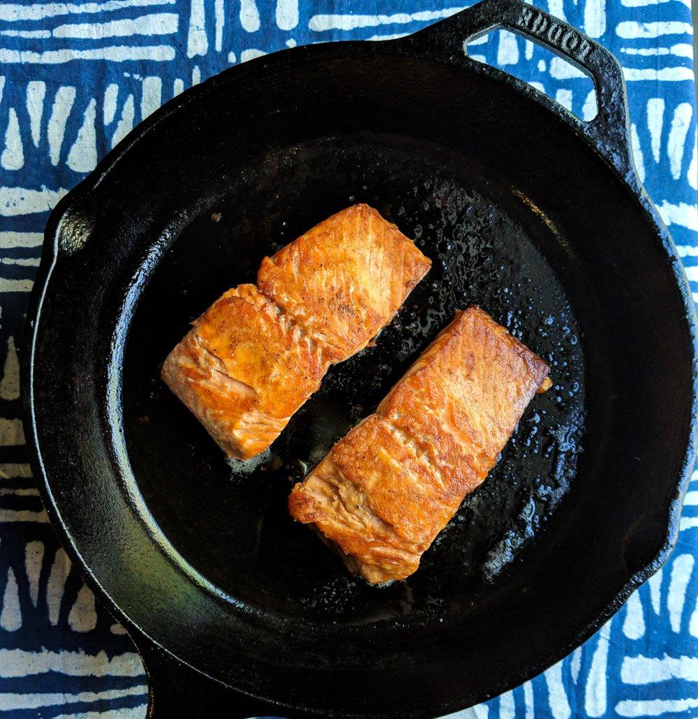 Ultimate Crispy Salmon -