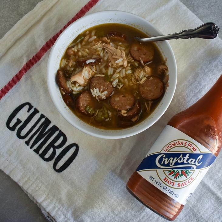 Chicken & Sausage Gumbo - Low-FODMAP and Gluten Free!